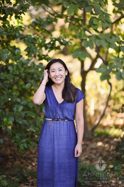 Bay-Area-lifestyle-photography-woman-standing-by-tall-bush