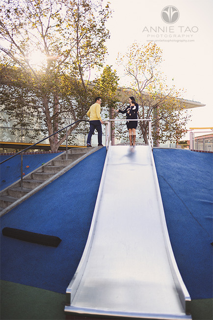 San-Francisco-lifestyle-family-photography-family-preparing-to-go-down-slide