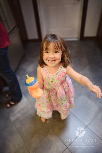 North-Bay-Marin-lifestyle-children-photography-toddler-girl-beaming-with-pride-after-pouring-milk
