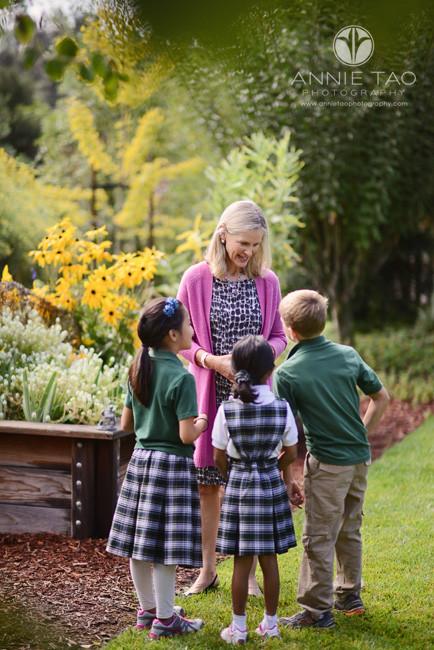 Bay-Area-Los-Altos-Commercial-Photography-school-Principal-talking-to-students-in-garden