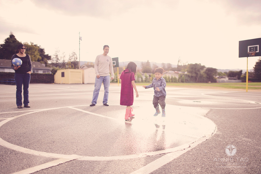 Los-Altos-lifestyle-family-photography-playing-with-puddles-during-sunset