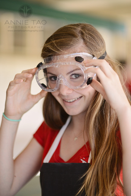 Bay-Area-Los-Altos-Commercial-Photography-high-school-science-class-female-student-putting-on-goggles