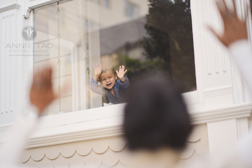 San-Francisco-lifestyle-family-photography-baby-boy-excited-to-see-mom-through-the-window
