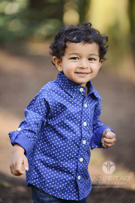 east-bay-lifestyle-children-photography-toddler-boy-smiling-in-woods