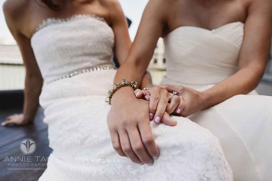 San-Francisco-wedding-photography-gay-wedding-brides-hands-intertwined-closeup