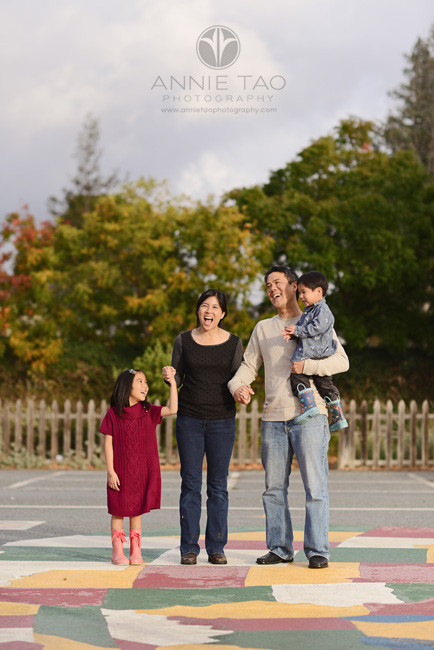 Los-Altos-lifestyle-family-photography-happy-family-of-four-holding-hands