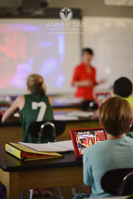 Bay-Area-Los-Altos-Commercial-Photography-students-following-along-on-iPads-while-teacher-uses-Smartboard