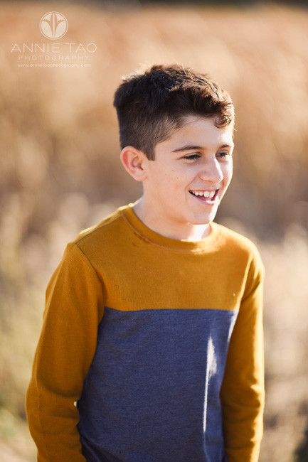 East-Bay-lifestyle-children-photography-boy-smiling-in-golden-sunlight