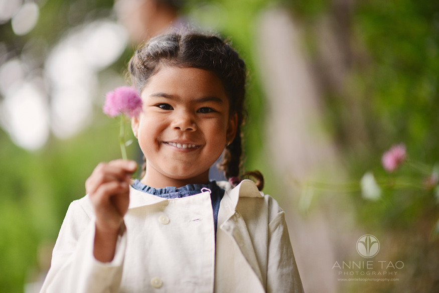 San-Francisco-lifestyle-children-photography-young-girl-holding-a-pink-flower