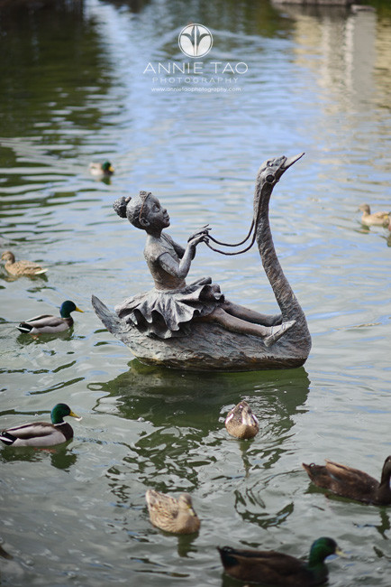 East-Bay-lifestyle-photography-metal-installation-in-water-surrounded-by-ducks