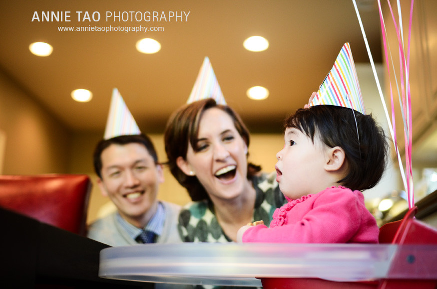 San-Francisco-Bay-Area-Event-Photography-birthday-party-baby-and-her-parents-in-party-hats
