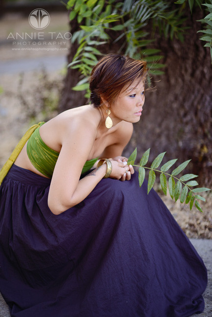 East-Bay-styled-photography-woman-with-short-hair-squatting-with-full-skirt-2