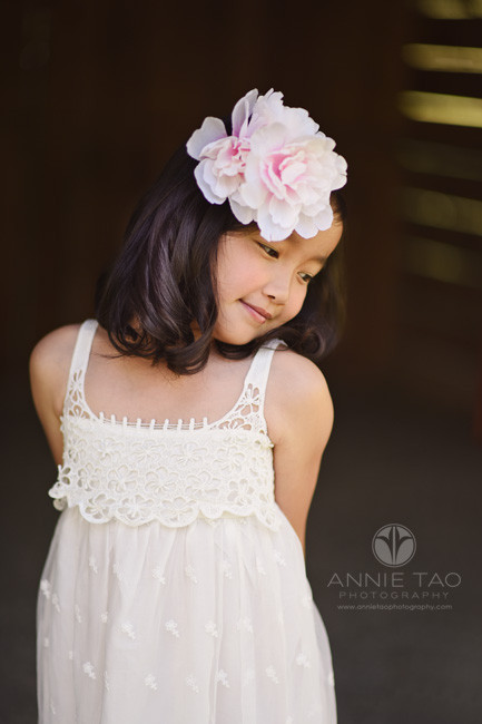 East-Bay-styled-children-photography-young-girl-with-flower-hairpiece