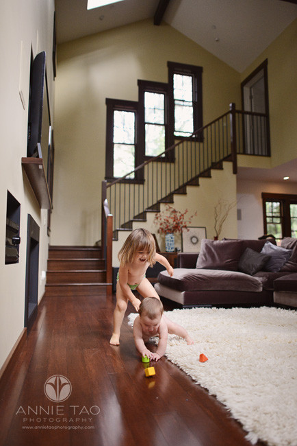 North-Bay-Marin-lifestyle-children-photography-toddler-sister-playing-with-her-baby-brother