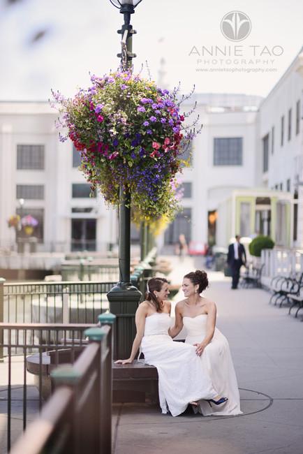San-Francisco-wedding-photography-gay-wedding-brides-sitting-by-the-pier