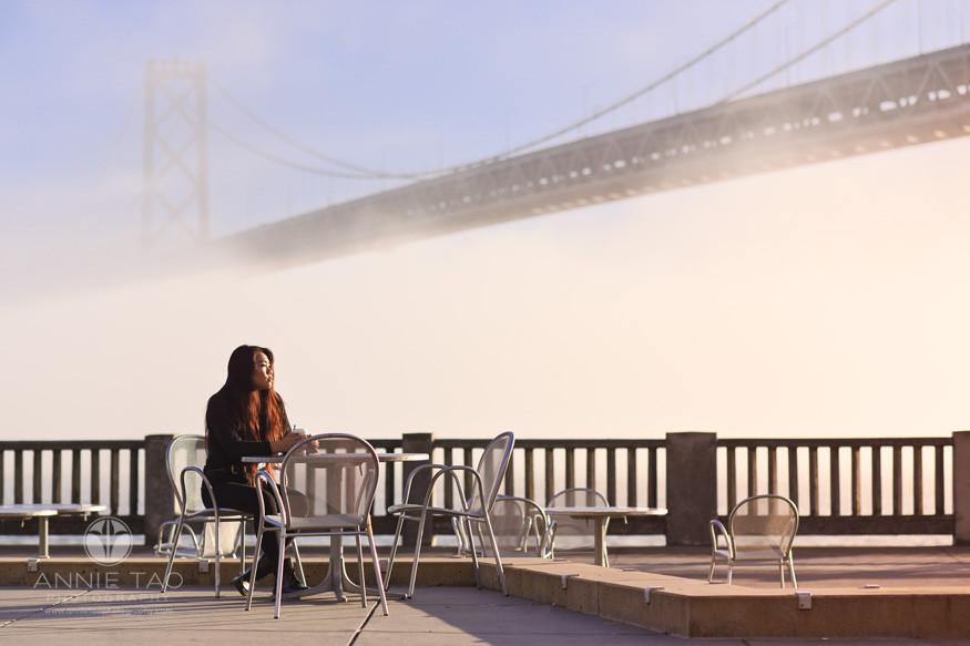 San-Francisco-senior-photography-teen-girl-pondering-life-by-bay-bridge-at-sunrise