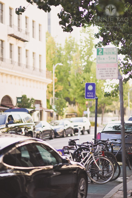 San-Francisco-Bay-Area-lifestyle-photography-bicycle-parking-area-in-street-downtown-Palo-Alto