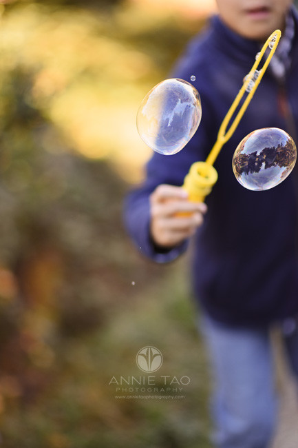 east-bay-lifestyle-children-photography-young-boy-splitting-giant-bubble-in-garden