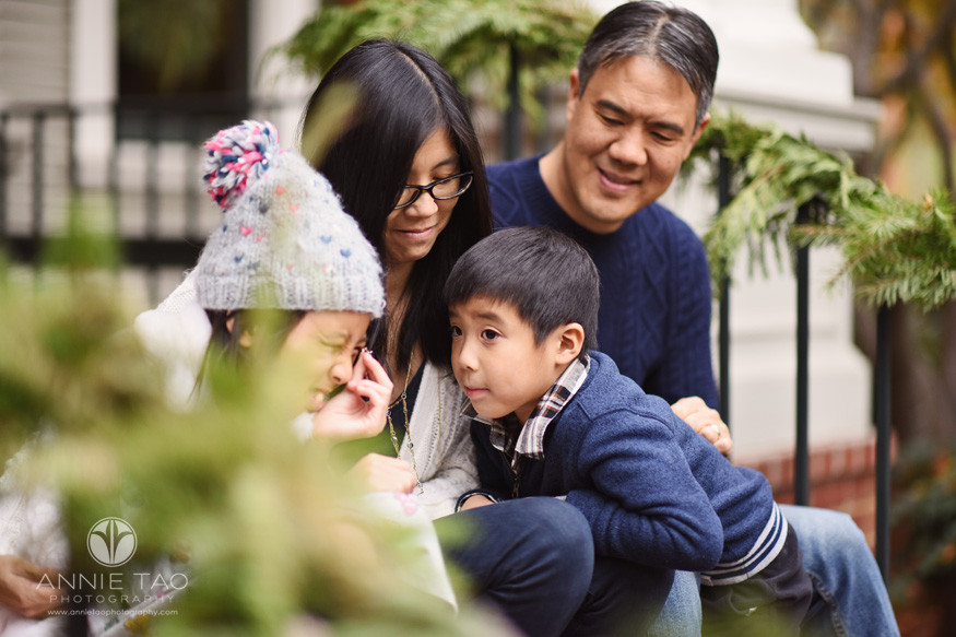 Bay-Area-lifestyle-family-photography-hanging-out-on-steps