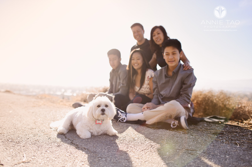 South-Bay-lifestyle-teen-young-adult-photography-family-watching-dog-laying-in-sun