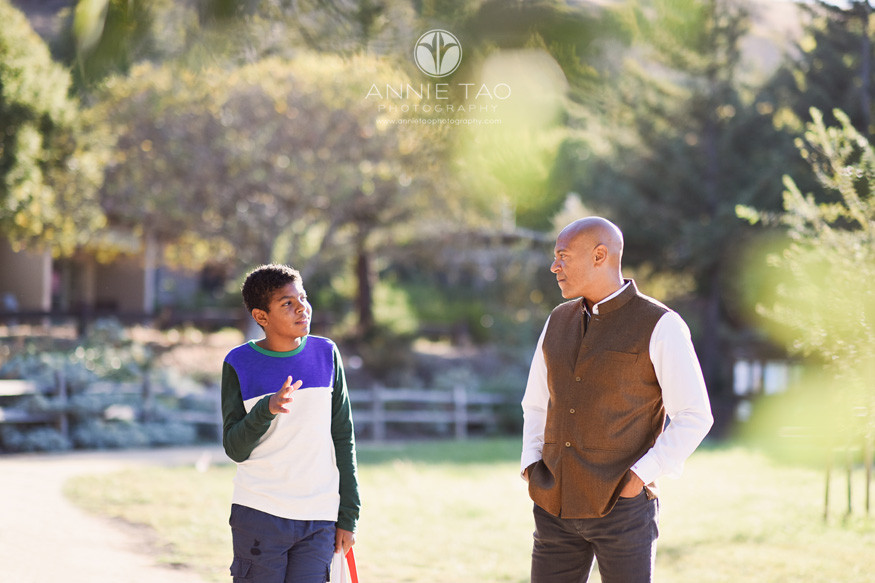 South-Bay-lifestyle-family-photography-boy-listening-to-his-father-at-park
