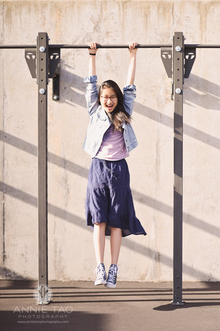 East-Bay-lifestyle-teen-photography-girl-holding-pullup-bar