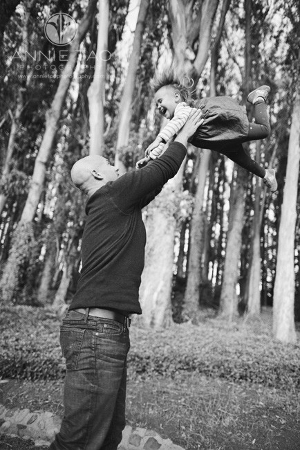 San-Francisco-lifestyle-family-photography-father-catching-youngest-daughter-BxW