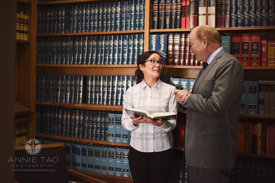 San-Francisco-commercial-photography-attorney-with-CCSF-paralegal-in-library