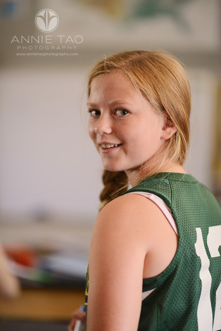 Bay-Area-Los-Altos-Commercial-Photography-high-school-girl-with-green-jersey