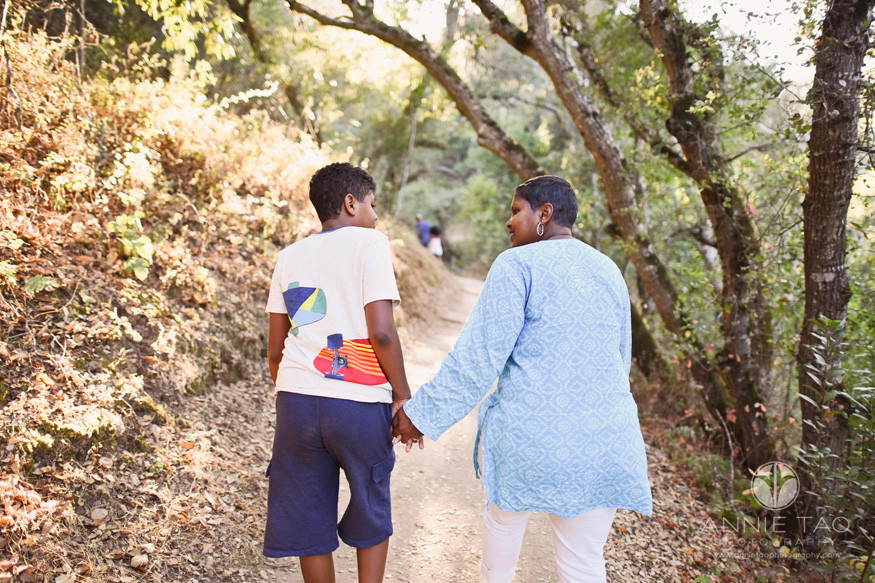 Bay-Area-lifestyle-family-photography-mother-and-son-holding-hands-while-hiking