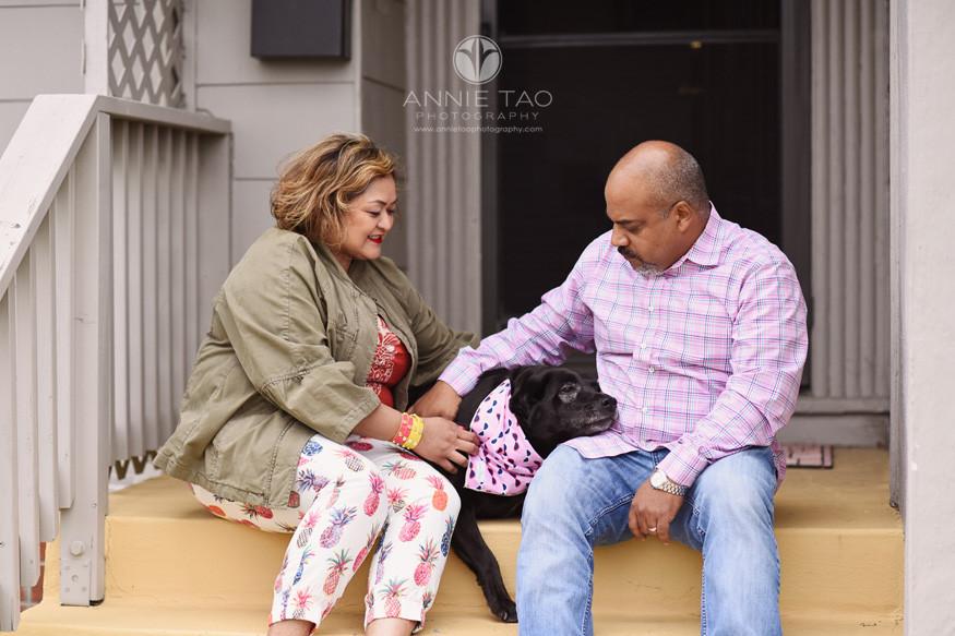 East-Bay-styled-photography-man-and-woman-loving-their-senior-black-labrador-dog