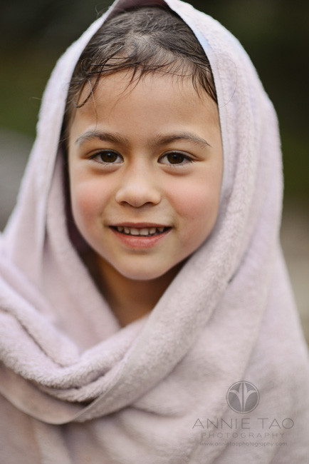 East-Bay-lifestyle-children-photography-preschooler-girl-with-towel-on-head-after-swim