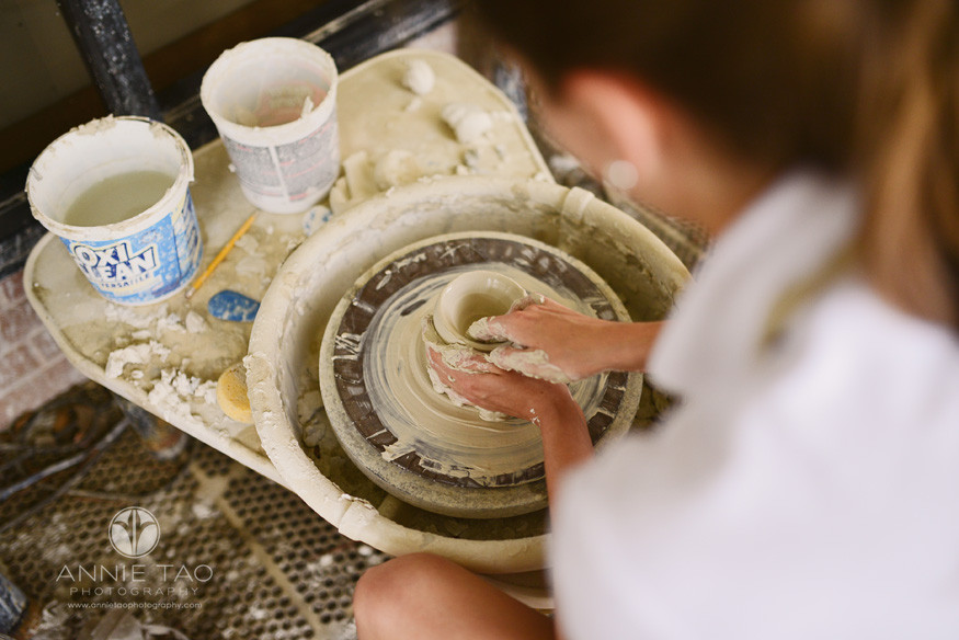 Commercial-education-photography-student-working-on-ceramics