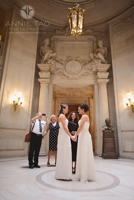 San-Francisco-wedding-photography-City-Hall-gay-wedding-brides-during-the-ceremony