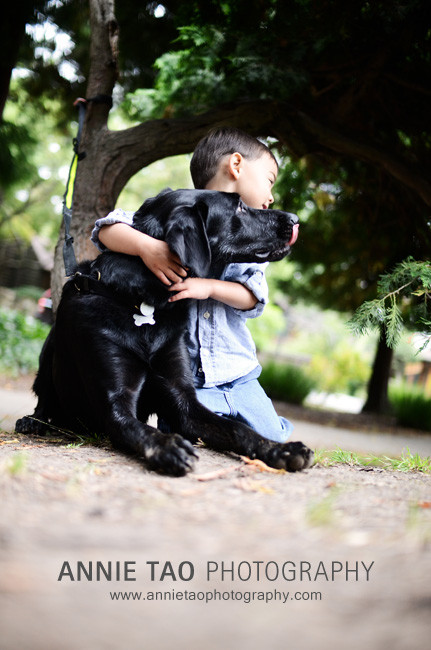 Berkeley-lifestyle-family-photography-boy-being-licked-by-dog