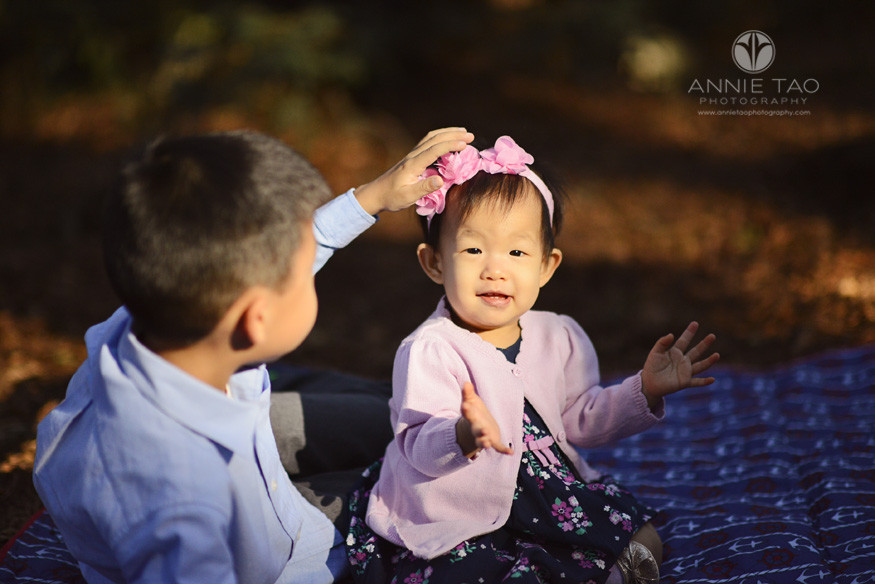 East-Bay-lifestyle-children-photography-boy-petting-baby-sisters-head