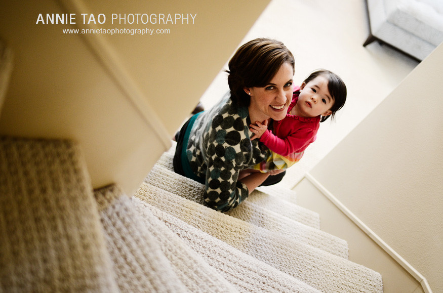 San-Francisco-Bay-Area-Event-Photography-mom-and-baby-on-stairs