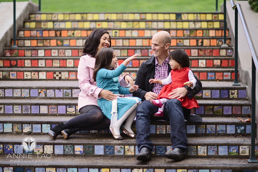 San-Francisco-lifestyle-family-photography-family-having-fun-on-mosaic-tiled-stairs-3