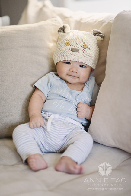 South-Bay-lifestyle-baby-photography-baby-boy-with-hat-sitting-on-couch