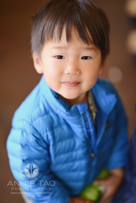 San-Francisco-lifestyle-children-photography-toddler-boy-in-a-blue-coat-at-a-coffee-shop