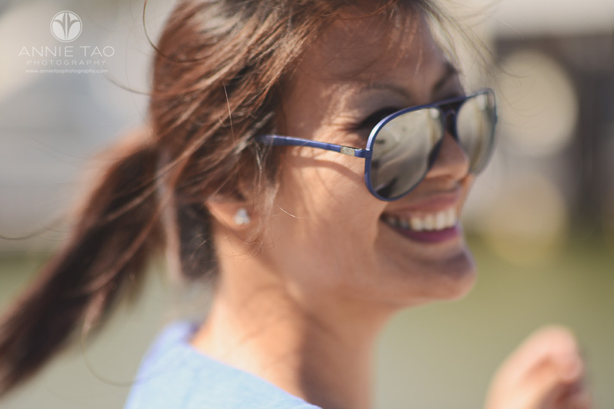 East-Bay-styled-photography-woman-with-ponytail-closeup-motion-blur