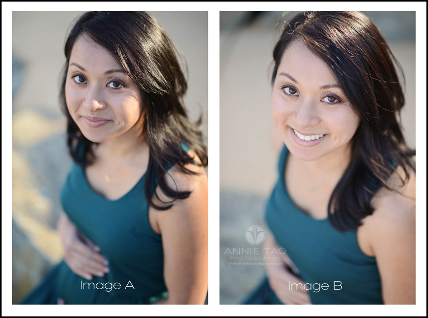 East-Bay-lifestyle-maternity-photography-pregnant-woman-headshot-side-by-side-comparison-blog