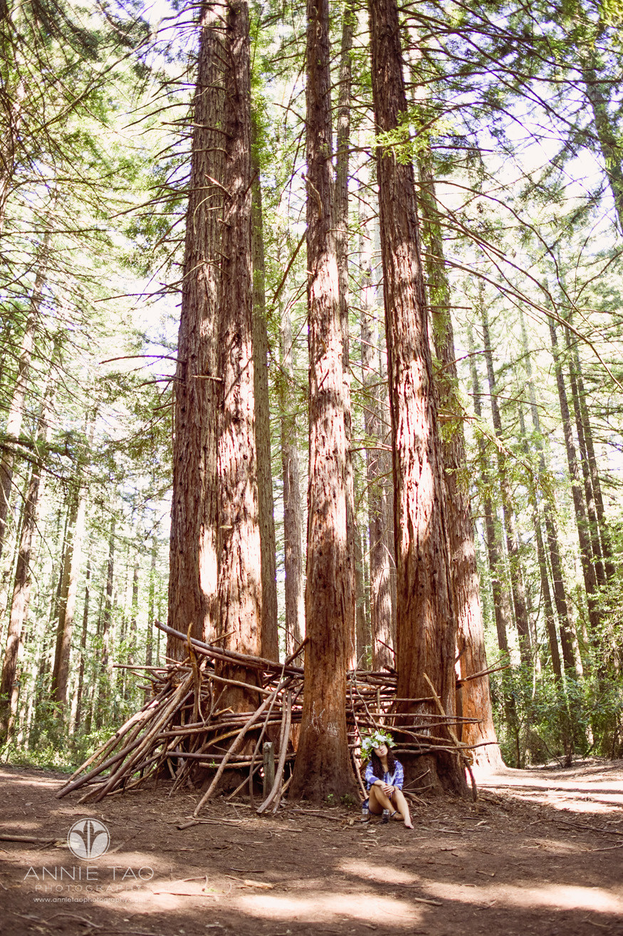 East-Bay-styled-photography-woodland-girl-sitting-alone-by-redwood-tree-home-LG