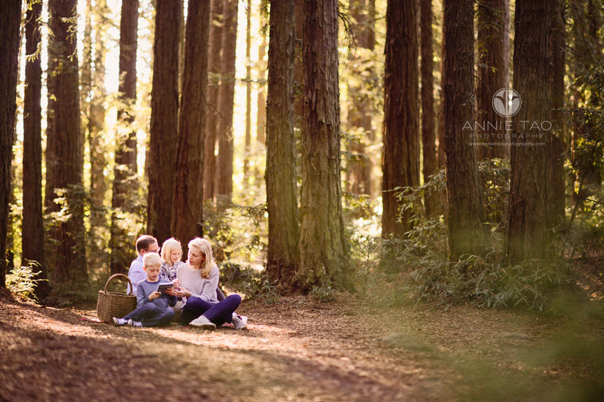 east-bay-lifestyle-family-photography-family-having-picnic-in-redwood-forest