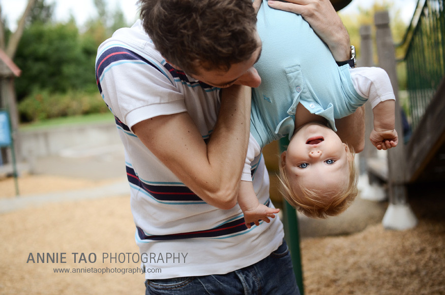East-Bay-lifestyle-family-photography-dad-holding-baby-upside-down