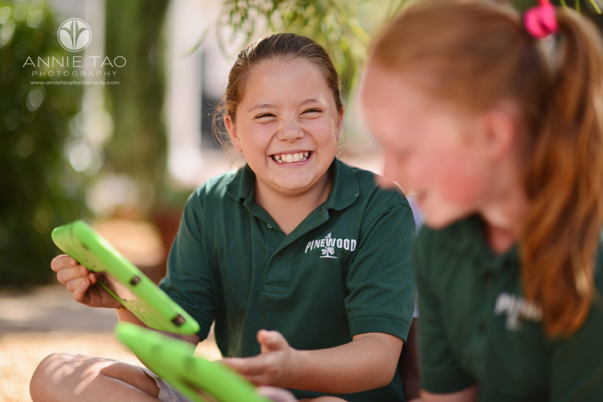Bay-Area-Los-Altos-Commercial-Photography-school-girl-laughing-while-holding-iPad