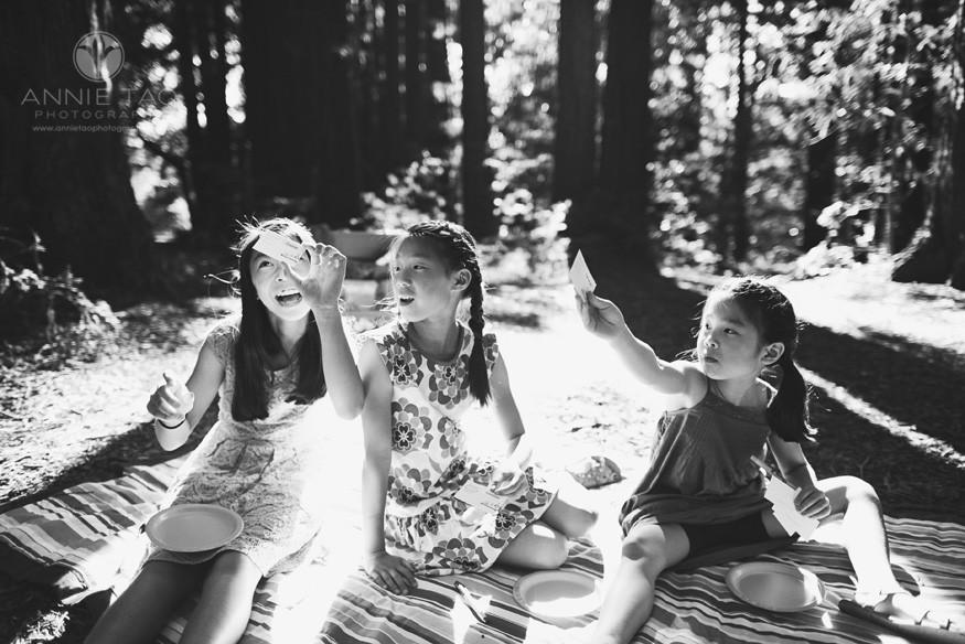 East-Bay-styled-children-photography-three-sisters-playing-food-game-BxW