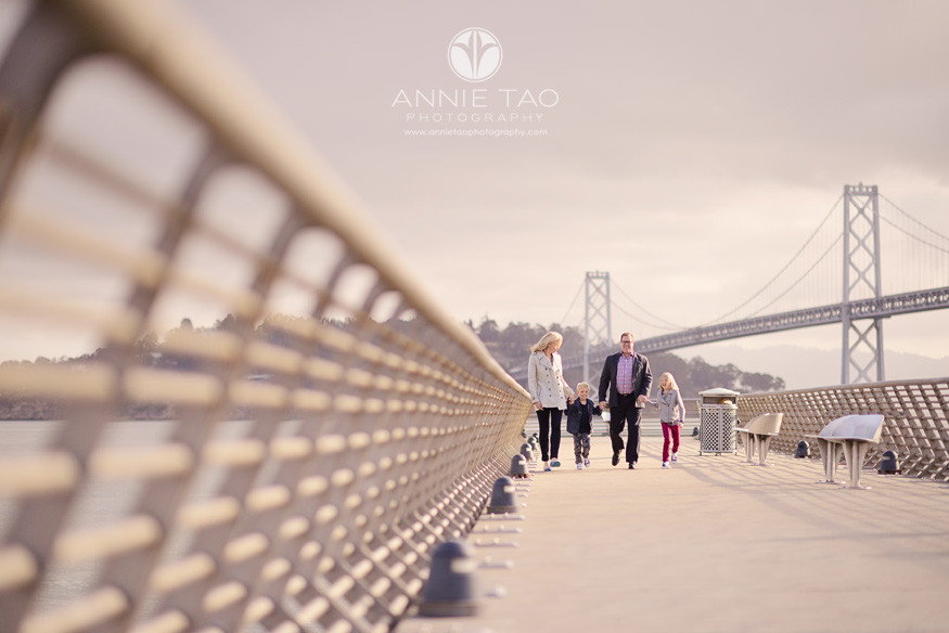 San-Francisco-lifestyle-family-photography-family-walking-on-pier-near-Bay-Bridge