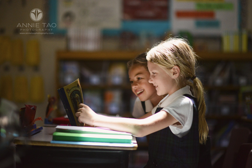 San-Francisco-Bay-Area-commercial-photography-students-sharing-a-book-in-heavenly-light
