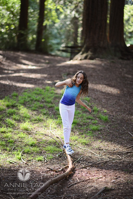 East-Bay-lifestyle-children-photography-girl-balancing-on-a-branch